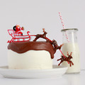 Santa and Sleigh Cake Topper: Deluxe