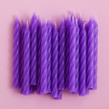 Purple Grape Spiral Candles