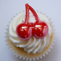 Cherry Iridescent Cupcake Toppers