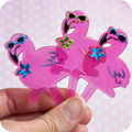 Flamingo Cupcake Toppers