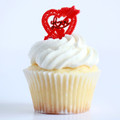 Heart Red Love Toppers