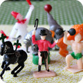 Crazy Retro Circus Cupcake Toppers
