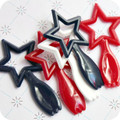 Patriotic Star Spoon Toppers