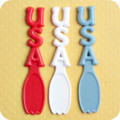Patriotic USA Spoon Picks