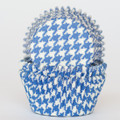 Royal Blue Houndstooth Cupcake Liners