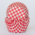 Strawberry Red Houndstooth Cupcake Liners