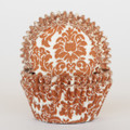Milk Chocolate Brown Damask Cupcake Liners