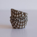 Mini Milk Chocolate Brown Houndstooth Cupcake Liners