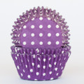 Purple Grape Polka Dot Cupcake Liners