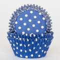 Royal Blue Polka Dot Cupcake Liners
