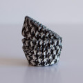 Mini Black Licorice Houndstooth Cupcake Liners