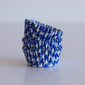 Mini Royal Blue Houndstooth Cupcake Liners