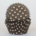 Milk Chocolate Brown Polka Dot Cupcake Liners