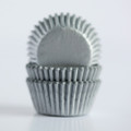 Mini Silver Grey Cupcake Liners