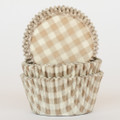 Gold Country Plaid Cupcake Liners
