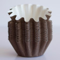 Mini Brown Floret Baking Cups
