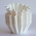 Mini White Floret Baking Cups