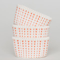 White and Tangerine Orange Sweet Spot Cupcake Liners