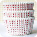 White and Cherry Red Sweet Spot Cupcake Liners
