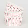 White and Watermelon Red Sweet Spot Cupcake Liners