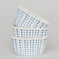 White and Royal Blue Sweet Spot Cupcake Liners