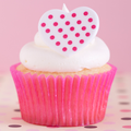 Heart Polka Dot Ring Toppers