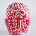 Raspberry Pink Paisley Cupcake Liners