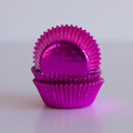 Mini Hot Pink Foil Cupcake Liners