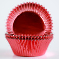 Vintage Red Foil Cupcake Liners
