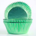 Vintage Mint Green Foil Cupcake Liners