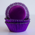 Vintage Purple Foil Cupcake Liners