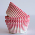 Cotton Candy Pink Vanishing Lines Cupcake Liners