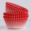 Cherry Red Vanishing Lines Cupcake Liners