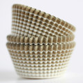 Gold Vanishing Lines Cupcake Liners