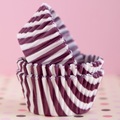 Burgundy Striped Cupcake Liners