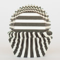 Black Licorice Striped Cupcake Liners
