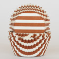 Milk Chocolate Striped Cupcake Liners
