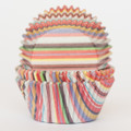 Multi Striped Cupcake Liners