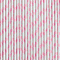 Cotton Candy Pink Polka Dot Paper Straws