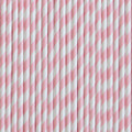 Vintage Pink Stripe Paper Straws