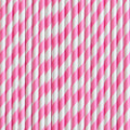 Bubblegum Pink Stripe Paper Straws