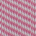 Raspberry Pink Stripe Paper Straws