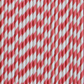 Cherry Red Stripe Paper Straws