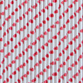 Cherry Red Heart Paper Straws