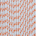 Peach Polka Dot Paper Straws