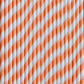 Pumpkin Orange Stripe Paper Straws