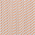 Tangerine Orange Skinny Stripe Paper Straws