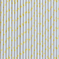 Lemon Yellow Star Paper Straws