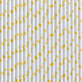 Sunshine Yellow Stars Paper Straws