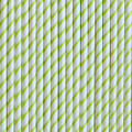 Lime Green Skinny Stripe Paper Straws